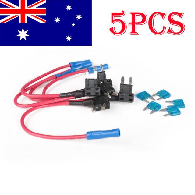 5PCS 15A Add Circuit Mini Blade Fuse Boxe Holder ACS ATO ATC Piggy Back Tap AU