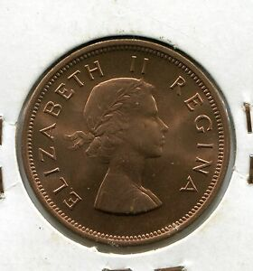 South-Africa-Coin-1d-1960-KM-60-1-Penny-UNC