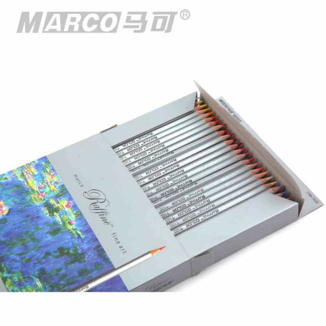 Marco Fine Art 72 Color Drawing Oil Base Non-toxic Pencils set for Artist Sketch