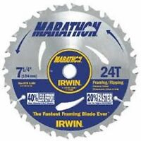 "NEW Irwin 14030 Marathon 7-1/4"" x 24-Tooth Framing/Ripping Circular Saw Blade"