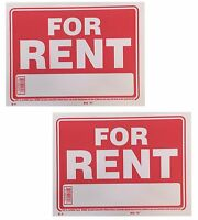 2 Sign - For Rent - Plastic Size: 9 X 12 2pcs