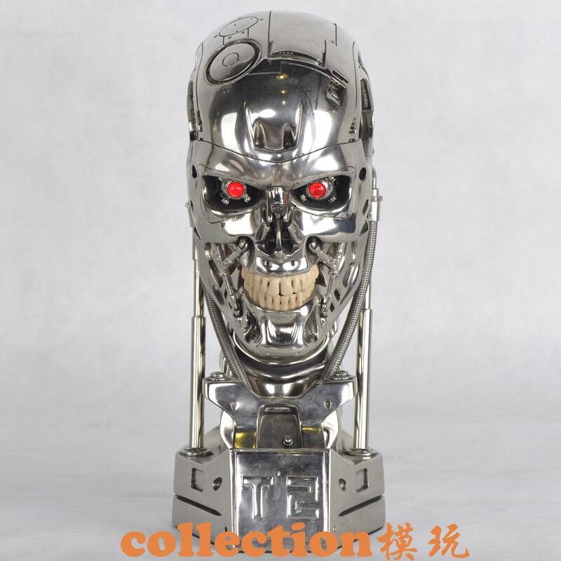 Terminator Arnold T2 T800 Endoskeleton Skull Resin Statue Life Größed Bust LED