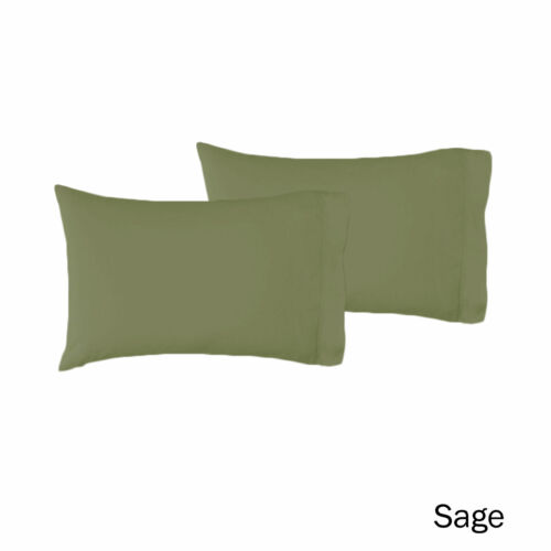 Black Cream Sage Color Choice Pair of Polyester Cotton Standard Pillowcases 48 x