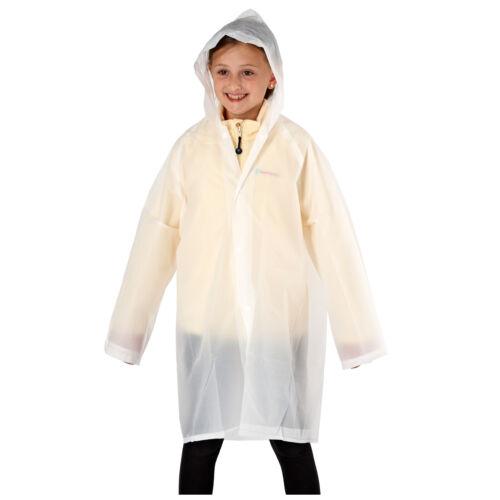 KIDS JUNIOR UNISEX BIODEGRADABLE RAIN JACKET PONCHO HOOD RAIN COVER PROTECTION
