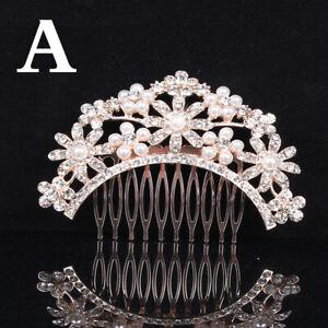 Bridal Hair Comb Pearl Crystal Headpiece Wedding Accessories Headwear