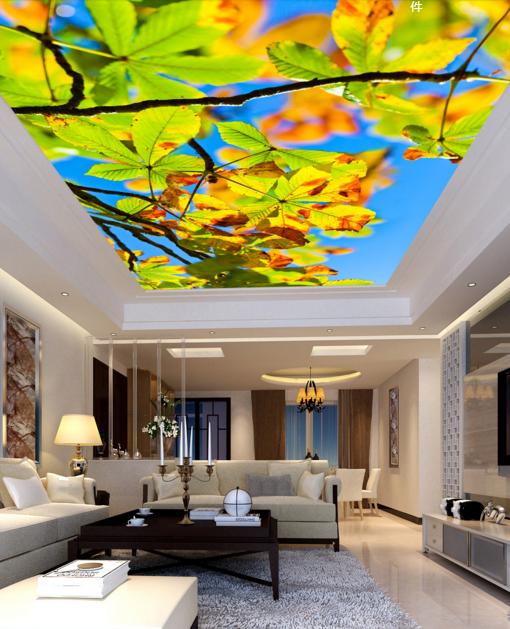 3D Gelb Blätter 43 Fototapeten Wandbild Fototapete BildTapete Familie DE