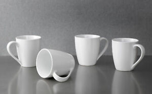 Portmeirion-Studio-White-Coupe-Mugs-Set-of-4-Porcelain-360ml-Kitchen-Dining-New