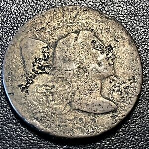 1795 Large Cent Liberty Cap Flowing Hair One Cent Better Grade Corroded #17053