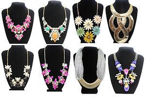 Fashion-Chunky-Statement-Charm-Pendant-Chain-Crystal-Jewelry-Choker-Bib-Necklace