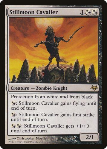 Stillmoon Cavalier Eventide NM-M White Black Rare MAGIC GATHERING CARD ABUGames
