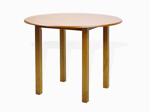 Image Is Loading Contemporary Round Dining Kitchen Solid Wood Table In