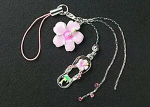 New-Cell-Phone-Charm-Strap-For-Mobile-Pink-Enamel-Flower-Crystal-Free-Shipping