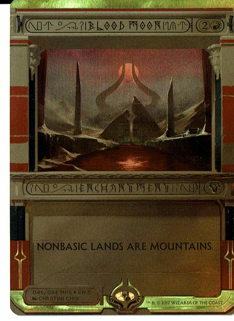 Blood Moon  FOIL  Amonkhet Invocations  Near Mint  MtG  Mythic