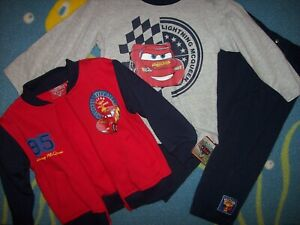 Cars-Outfit-3pc-Set-Boys-3Toddler-Disney-Pixar-Red-McQueen-Racing-Team-New