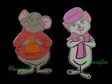 RESCUERS Rescue Aid Society Mouse BERNARD & MISS BIANCA Disney 2014 [2] Pin Set