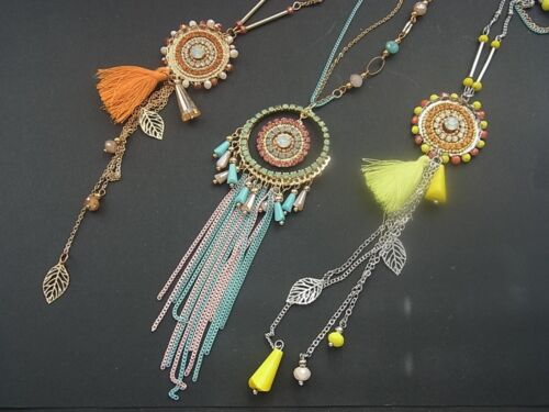Kette Halskette Lange Kette mit Anhänger Orient Orientalisch