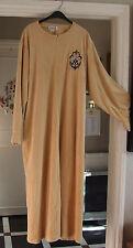 Gorgeous Full-LENGHT Beige Velluto Robe Vestaglia Lounge-Wear Vestaglia 2xl