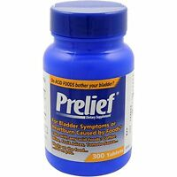 6 Pack Prelief Dietary Supplement For Bladder Symptoms 300 Tablets Each on sale