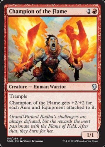 4x Champion of the Flame MTG Dominaria NM Magic Regular