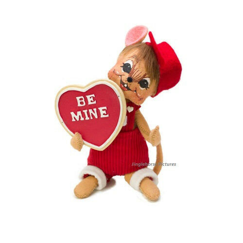 """Valentine's Day BE MINE MOUSE 6"""" Table Top Holiday Valentine Gift Figure Annalee"""
