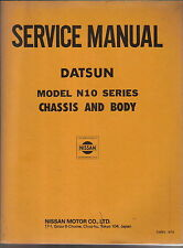 Datsun Nissan Model N 10 Cherry original Chassis & Body Service Manual 1978
