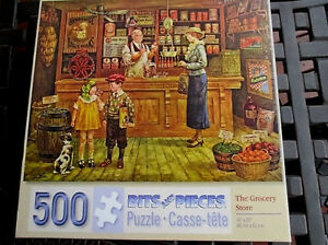 "500 Piece Lee Dubin Art Puzzle ""The Grocery Store""  New 16""x 20"""