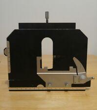 Nikon Labopbot Alphaphot Optiphot Mechanical Xy Stage With Specimen Holder 95mm