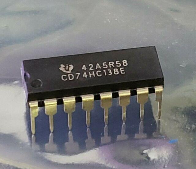Décodeur démultiplexeur entrées 6 THT 6x CD74HC137E IC Digital 3 To ligne 8