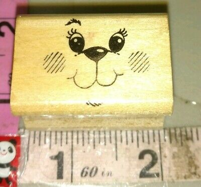 Wooden Rubber Stamp Cute  Bear