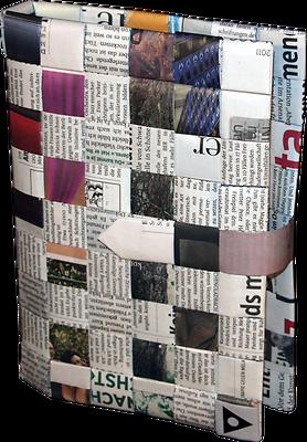 Bücherzubehör Transformate Buchhülle Buchumschlag Aus Recycelten Zeitungen Unikat Neu/ovp