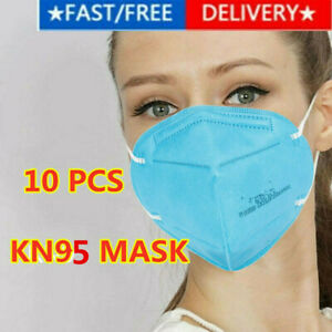 5/10 Pcs KN95 Face Mask Mouth Cover Disposable Masks Respirator BLUE