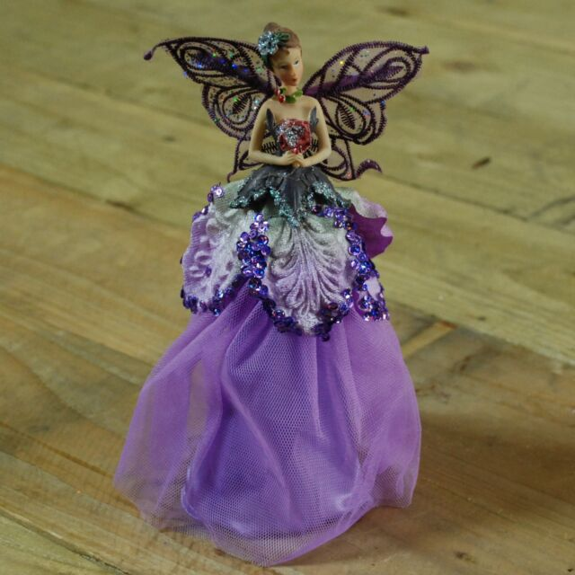 Festive Productions 23cm Lilac Angel Fairy Christmas Tree Top Topper