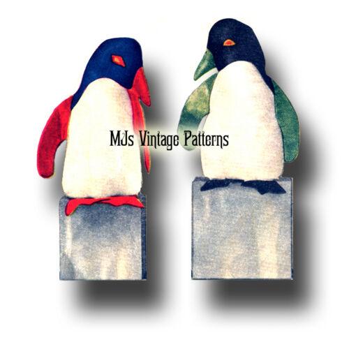 "Vintage Penguins Stuffed Animal Toy Pattern ~ 20/"" tall"