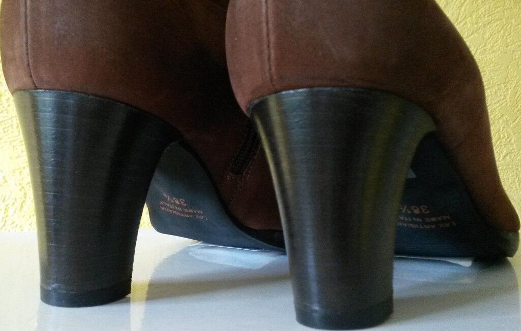 Stiefelette eleven schuhe Gr 37.5+38.5 Farbe pony Reißver.Absatz 7,9 cm Veloulede