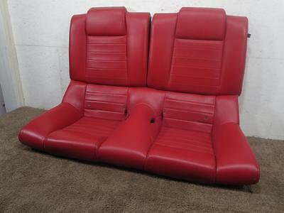 Ford Coupe Mustang Gt OEM Red Leather Rear Seat 2005 2006 2007 2008 2009