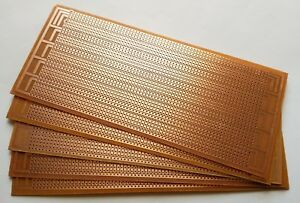 5Pcs 6.5x14.5cm Stripboard board Uncut PCB Platine Single Side Circuit TDO