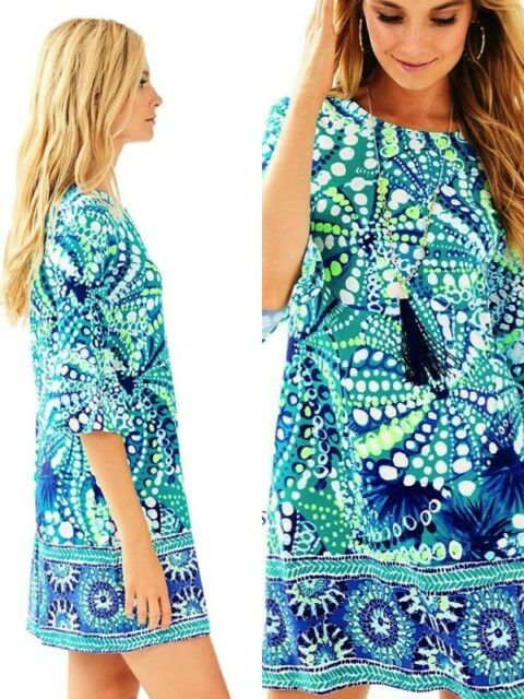 2e7930a49de6b0 Lilly Pulitzer Ophelia Dress Agate Green Roe Your Boat XXS out RARE ...