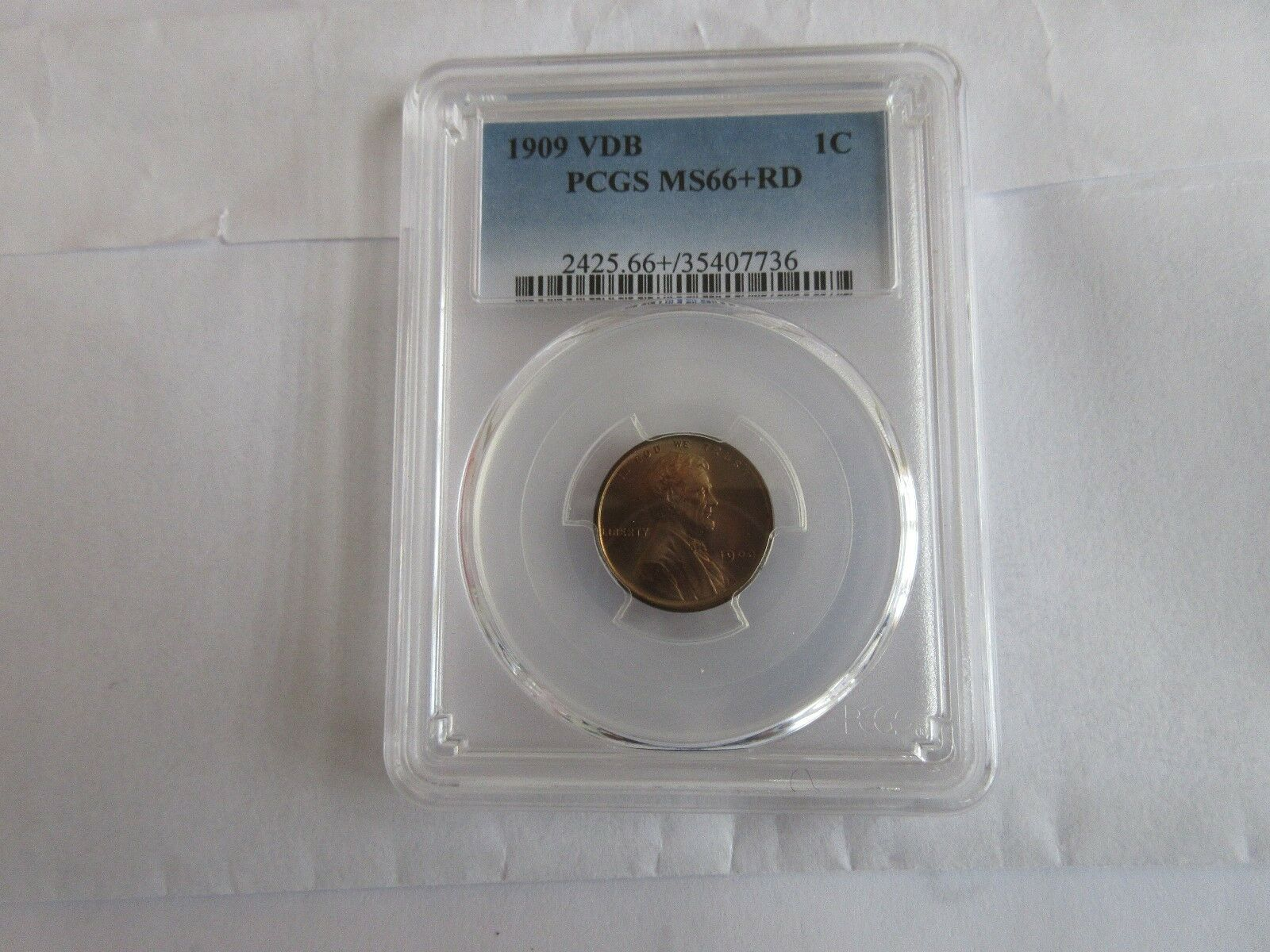 1909 VDB , Lincoln Penny , PCGS , MS66+RD