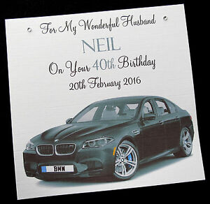 Image Is Loading Personalised Handmade Birthday Card 039 BMW M5