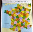 AFFICHE SCOLAIRE ROSSIGNOL FRANCE REGION/DEPARTEMENT RARE voir photos descriptif