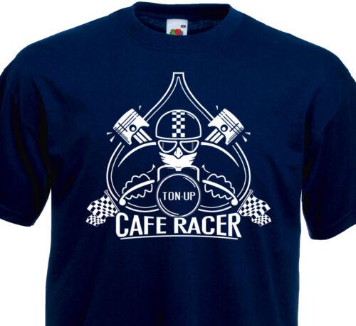 T-shirt CAFE RACER Ton Up BSA Triumph Triton Norton Moto Guzzi Ducati BMW Harley