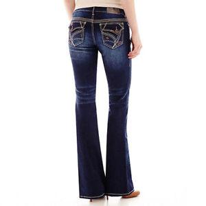 "6b34967bf9426 Aryia Women s Size 5 6 Regular Curvy Boot Cut Blue 32"" Inseam Blue ..."