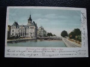 FRANCIA-tarjeta-postal-1903-mulhouse-y-el-canal-de-la-rhoneau-rhine-cy92french