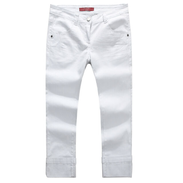 MISS FOX Women's Esther Slim-Fit Cropped Coloured Jeans-SIZE 12