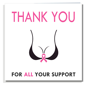 THANK YOU CARD Friend Daughter Sister Support Wife Mum Cancer For Women T001
