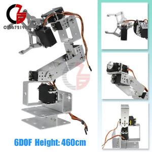460MM Aluminium Arduino Robot Clamp Claw Mount Kit 6DOF Mechanical Robotic Arm