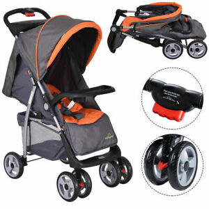Foldable-Baby-Kids-Travel-Stroller-Newborn-Infant-Buggy-Pushchair-Child-Gray