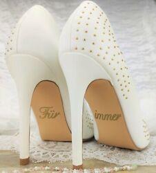 Schuhsticker 'Für immer' – 13 Farben Hochzeit Aufkleber Schuhe Schuhaufkleber