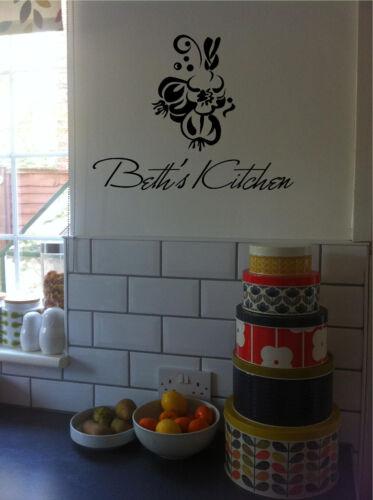 Personalized Kitchen Sign Italian Wall Sticker Wall Art Kitchen Decor
