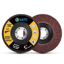 20pcs 4 12 X 78 In Flap Disc 60 Grit Ao T27 Angle Grinder Sanding Wheels 45